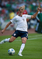 Stuart Holden. USA Men's National Team loses to Mexico 2-1, August 12, 2009 at Estadio Azteca, Mexico City, Mexico. .   .