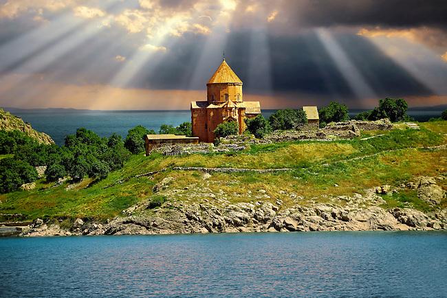 10th century Armenian Orthodox Cathedral of the Holy Cross on Akdamar Island, Lake Van Turkey 52