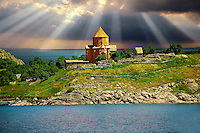 10th century Armenian Orthodox Cathedral of the Holy Cross on Akdamar Island, Lake Van Turkey 52
