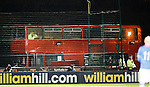 The Hamilton Accies snack bus parked behind the goals