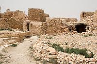 Tarmeisa, Libya - An Abandoned Berber Stone Village in the Jebel Nafusa.  Originally from Byzantine times.