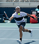 March 26, 2019: Borna Coric (CRO) defeated Nick Kyrgios (AUS) 4-6, 6-3, 6-2, at the Miami Open being played at Hard Rock Stadium in Miami, Florida. ©Karla Kinne/Tennisclix 2010/CSM