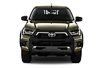 Car photography straight front view of a 2021 Toyota Hilux Invincible 4 Door Pick-up Front View