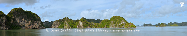 Halong Bay, panoramic view (Licence this image exclusively with Getty: http://www.gettyimages.com/detail/83154167 )