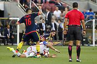 Action photo during the match United States vs Colombia, Corresponding Group -A- America Cup Centenary 2016, at Levis Stadium<br /> <br /> Foto de accion durante el partido Estados Unidos vs Colombia, Correspondiante al Grupo -A-  de la Copa America Centenario USA 2016 en el Estadio Levis, en la foto: /i-d) Daniel torres de Colombia y Clint Dempsey de USA<br /> <br /> <br /> 03/06/2016/MEXSPORT/Victor Posadas.
