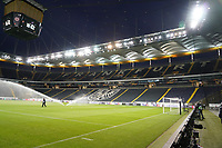 Leere Commerzbank Arena - 12.03.2020: Eintracht Frankfurt vs. FC Basel, UEFA Europa League, Achtelfinale, Commerzbank Arena<br /> DISCLAIMER: DFL regulations prohibit any use of photographs as image sequences and/or quasi-video.