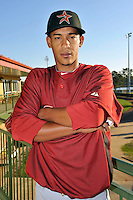 Feb 25, 2010; Kissimmee, FL, USA; The Houston Astros pitcher Henry Villar (92) during photoday at Osceola County Stadium. Mandatory Credit: Tomasso De Rosa/ Four Seam Images