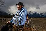 Chief Jimmy OíChiese in Jasper, Alberta, on April 13, 2017.<br /> <br /> Credit: John Ulan