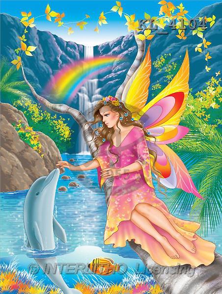 Interlitho, Lorella, FANTASY, paintings, elf, dolphin, KL, KL4104,#fantasy# illustrations, pinturas