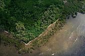 Littoral de la côte Est bordée de mangrove, Pointe Ometteux région de Tiakan, Nouvelle-Calédonie