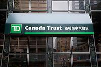 Toronto (ON) CANADA - July 2012 - TD (Canada Trust) in Toronto Chinatown