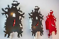 Europe/Allemagne/Bade-Würrtemberg/Forêt Noire/Baiersbronn-Tonbach: Hôtel: Traube Tonbach _ Détail décoration de la réception: Coucous