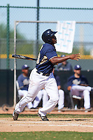 San Diego Padres Jhonatan Pena (68) during an instructional league game against the Texas Rangers on October 9, 2015 at the Surprise Stadium Training Complex in Surprise, Arizona.  (Mike Janes/Four Seam Images)