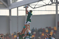 9th October 2021; Brentford Community Stadium, Brentford, London; Gallagher Premiership Rugby, London Irish versus Leicester Tigers; Adam Coleman of London Irish catches the ball from the line out