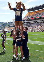 The Pitt Panther mascot performs during the game. The Pittsburgh Panthers defeat the New Hampshire Wildcats 38-16 at Heinz Field, Pittsburgh Pennsylvania on September 11, 2010.