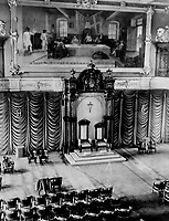 La visite du Roi George VI au Canada en 1939.<br /> <br /> <br /> <br /> <br /> <br /> La visite du Roi George VI au Canada en 1939.<br /> <br /> <br /> <br /> <br /> <br /> These thrones; in Quebec's parliament house; hold their majesties today. The painting shows Quebec's first sovereign council; 1663. France then held Canada<br /> <br /> [unknown]<br /> Picture, 1939<br /> <br /> PHOTO : Toronto Star Archives - AQP