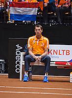 April 18, 2015, Netherlands, Den Bosch, Maaspoort, Fedcup Netherlands-Australia,  Captain Paul Haarhuis (NED)<br /> Photo: Tennisimages/Henk Koster