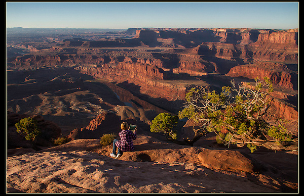 Sunrise Outside Imagery photo workshop at Dead Horse State Park, Utah.<br />