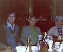 France 1977.In Montlivault, Loir-et-Cher, the KDPI conference: from left to right, Hadwin Shatavi, Karim Hessami and Hemen.France 1977.Au chateau de Montlivault dans le Loir-et-Cher, conference du PDKI: De gauche a droite, Hadwin Shatavi, Karim Hessami et Hemen, le poete