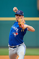 Toronto Blue Jays pitcher Taylor Cole (74) delivers a pitch during a Spring Training game against the Pittsburgh Pirates on March 3, 2016 at McKechnie Field in Bradenton, Florida.  Toronto defeated Pittsburgh 10-8.  (Mike Janes/Four Seam Images)