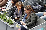 Isabel García Tejerina, Minister of Agriculture, Food and Environment (l) during Madrid Open Tennis 2016 Semifinal match.May, 7, 2016.(ALTERPHOTOS/Acero)