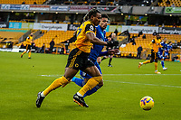 7th February 2021; Molineux Stadium, Wolverhampton, West Midlands, England; English Premier League Football, Wolverhampton Wanderers versus Leicester City; Adama Traoré of Wolverhampton Wanderers races down the line to try and get a cross in to the box