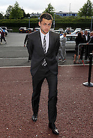 Pictured: Lukasz Fabianski arrives Wednesday 20 May 2015<br /> Re: Swansea City FC Awards Dinner at the Liberty Stadium, south Wales, UK