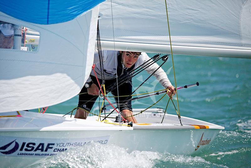 Spain420MenCrewESPPG31PabloGarcía Portela<br /> Spain420MenHelmESPAG70AndrésÁlvarez<br /> Day2, 2015 Youth Sailing World Championships,<br /> Langkawi, Malaysia