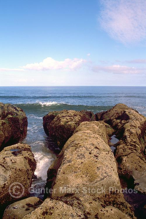 Queen Charlotte Islands (Haida Gwaii), Northern BC, British Columbia, Canada - Rocky Coastline at McIntyre Bay and North Beach, Naikoon Provincial Park, Graham Island