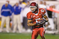23 December 2006: Utah receiver Brent Casteel (#5) runs with the ball during the 2006 Bell Helicopters Armed Forces Bowl between The University of Tulsa and The University of Utah at Amon G. Carter Stadium in Fort Worth, TX.