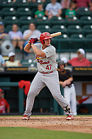 Palm Beach Cardinals Luken Baker (47) at bat during a Florida State League game against the Bradenton Marauders on May 10, 2019 at LECOM Park in Bradenton, Florida.  Bradenton defeated Palm Beach 5-1.  (Mike Janes/Four Seam Images)
