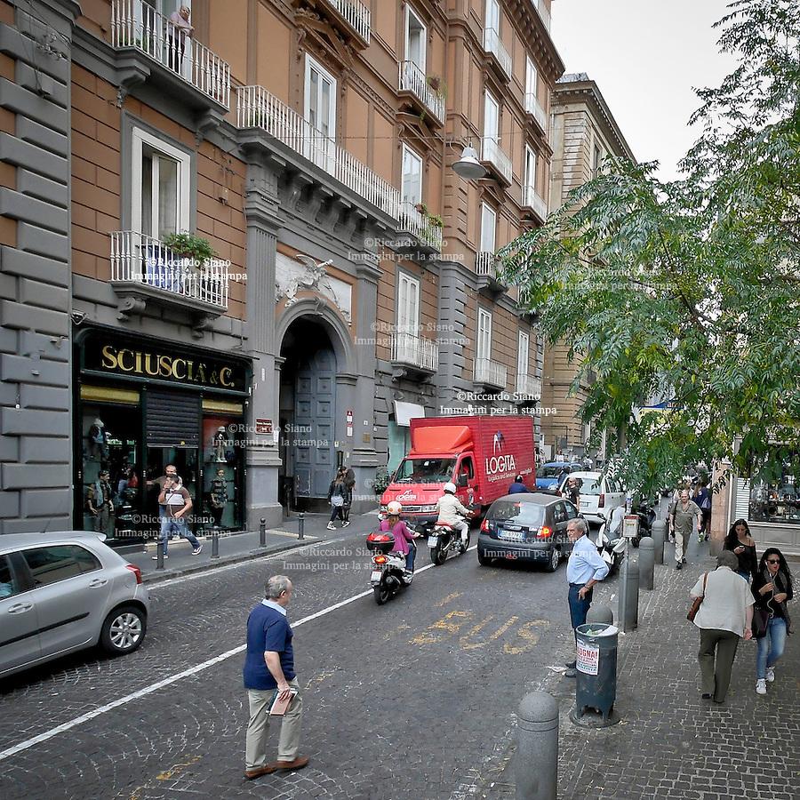 - NAPOLI 22 OTT 2014 - Via Vittoria Colonna 4. Palazzo Scarpetta