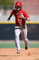 Los Angeles Angels of Anaheim Keith Grieshaber (21) during an Instructional League game against the Colorado Rockies on October 6, 2016 at the Tempe Diablo Stadium Complex in Tempe, Arizona.  (Mike Janes/Four Seam Images)