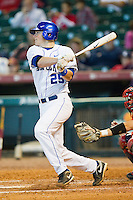 Thomas McCarthy #25 of the Kentucky Wildcats follows through on his swing against the Houston Cougars at Minute Maid Park on March 5, 2011 in Houston, Texas.  Photo by Brian Westerholt / Four Seam Images