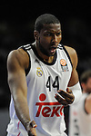 Real Madrid´s Marcus Slaughter during 2014-15 Euroleague Basketball Playoffs second match between Real Madrid and Anadolu Efes at Palacio de los Deportes stadium in Madrid, Spain. April 17, 2015. (ALTERPHOTOS/Luis Fernandez)