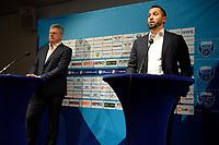 25-05-2021: Basketbal: Presentatie Trainer Donar: Groningen, Matthew Otten manager technische zaken Martin de Vries  (l)