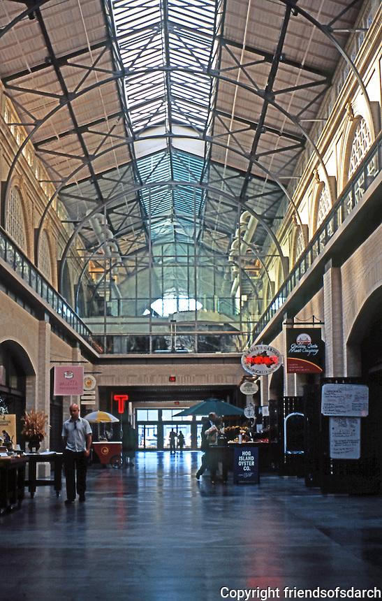 San Francisco:  Ferry Building Interior. Restored 2003.