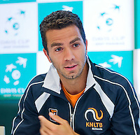 Austria, Kitzbuhel, Juli 14, 2015, Tennis, Davis Cup, Training Dutch team at the the press conference, Jean-Julien Rojer, <br /> Photo: Tennisimages/Henk Koster