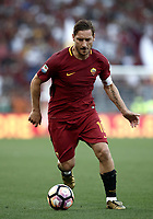 Calcio, Serie A: Roma, stadio Olimpico, 28 maggio 2017.<br /> AS Roma's Francesco Totti in action during the Italian Serie A football match between AS Roma and Genoa at Rome's Olympic stadium, May 28, 2017.<br /> Francesco Totti's final match with Roma after a 25-season career with his hometown club.<br /> UPDATE IMAGES PRESS/Isabella Bonotto
