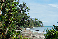 Beach near Cahuita, Costa Rica.