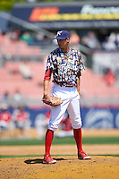 Reading Fightin Phils relief pitcher Hoby Milner (23) during a game against the New Hampshire Fisher Cats on June 6, 2016 at FirstEnergy Stadium in Reading, Pennsylvania.  Reading defeated New Hampshire 2-1.  (Mike Janes/Four Seam Images)