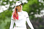USA Paula Creamer reacts after missing the 3rd hole at the LPGA Championship 2011 Sponsored By Wegmans at Locust Hill Country Club in Rochester, New York on June 25, 2011