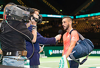 Rotterdam, The Netherlands, 14 Februari 2019, ABNAMRO World Tennis Tournament, Ahoy, Damir Dzumhur (BIH) winner,<br /> Photo: www.tennisimages.com/Henk Koster