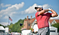 5th September 2021: Atlanta, Georgia, USA;  Jon Rahm looks down the fairway after teeing off from the 16th tee box during the final round of the PGA Tour Championship on Sunday, September 5, 2021 at East Lake Golf Club in Atlanta, GA. (Photo by Austin McAfee/Icon Sportswire)