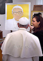 Pope Francis during a meeting  Argentina's President Cristina Fernandez at the Vatican on  September 20, 2014.