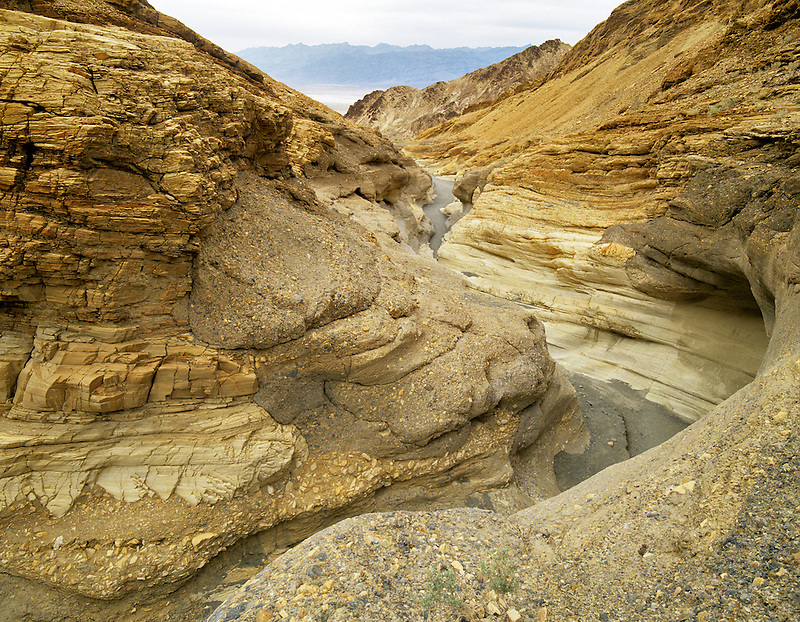 Mosaic Canyon trail, as seen from above. Death Valley National Park, California.