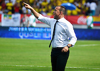BARRANQUILLA - COLOMBIA -01-09-2016: Rafael Dudamel técnico de Ecuador durante partido contra de Colombia de la fecha 7 para la clasificación a la Copa Mundial de la FIFA Rusia 2018 jugado en el estadio Metropolitano Roberto Melendez en Barranquilla./  Venezuela coach of Venezuela during match against Colombia of the date 7 for the qualifier to FIFA World Cup Russia 2018 played at Metropolitan stadium Roberto Melendez in Barranquilla. Photo: VizzorImage / Alfonso Cervantes / Cont