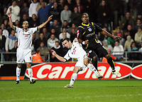 Pictured: Leon Britton of Swansea City in action <br /> Re: Coca Cola Championship, Swansea City Football Club v Queens Park Rangers at the Liberty Stadium, Swansea, south Wales 21st October 2008.