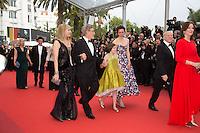 Kate Capshaw, Steven Spielberg, Ruby Barnhill, Rebecca Hall, Kathleen Kennedy - CANNES 2016 - MONTEE DU FILM 'THE BFG (LE BON GROS GEANT)