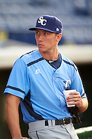 Charlotte Stone Crabs pitcher Brian Miller (28) before a game against the Clearwater Threshers on April 12, 2016 at Bright House Field in Clearwater, Florida.  Charlotte defeated Clearwater 2-1.  (Mike Janes/Four Seam Images)